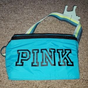 """Pink Lunch bag /cooler with strap blue """"new"""""""